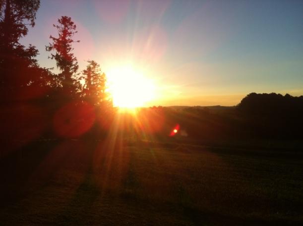 Pôr do Sol absurdo