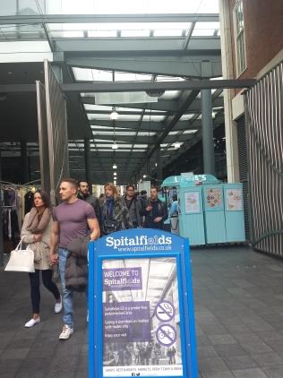 Entrada Spitalfields, uma das várias